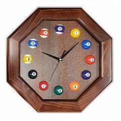 """Часы бильярдные """"8 граней"""""""